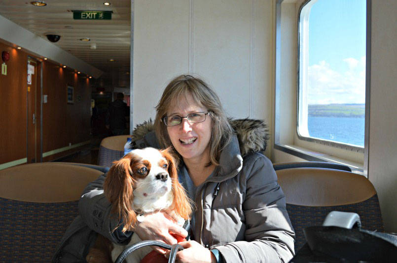 Me and Eddie on the Isle of Bute ferry