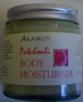 Patchouli Body Moisturiser and Shea Butter by Akamuti