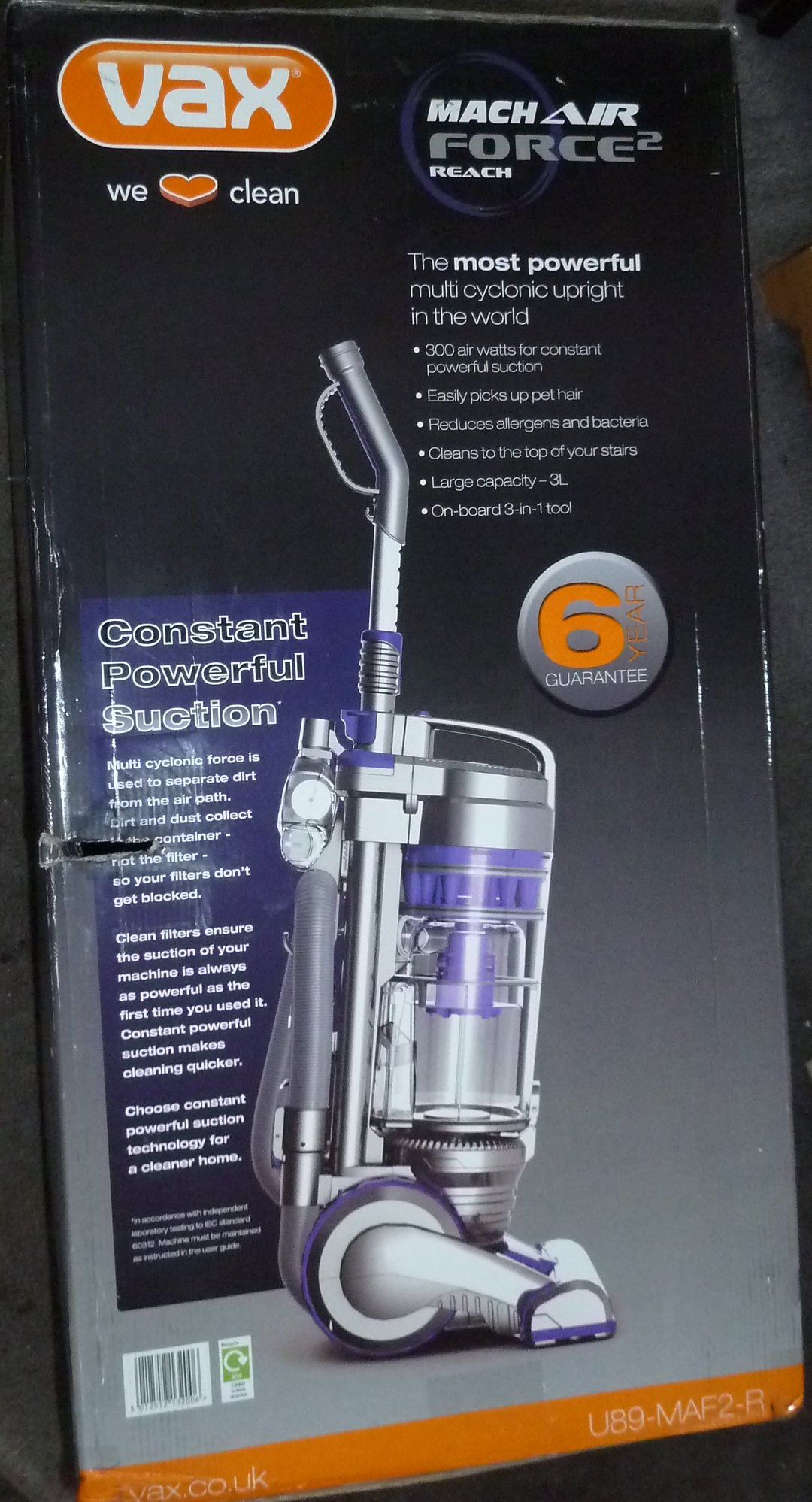Vax Air Force 2 Reach Vacuum Cleaner