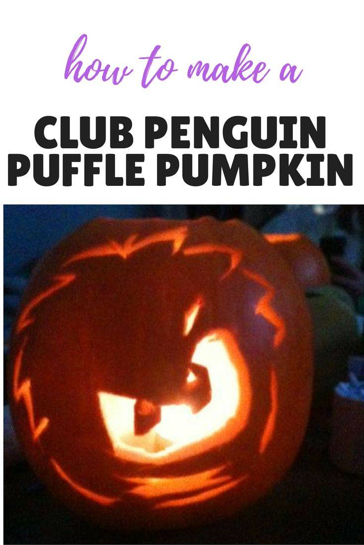 How to carve a Club Penguin Puffle Pumpkin. Perfect for Halloween