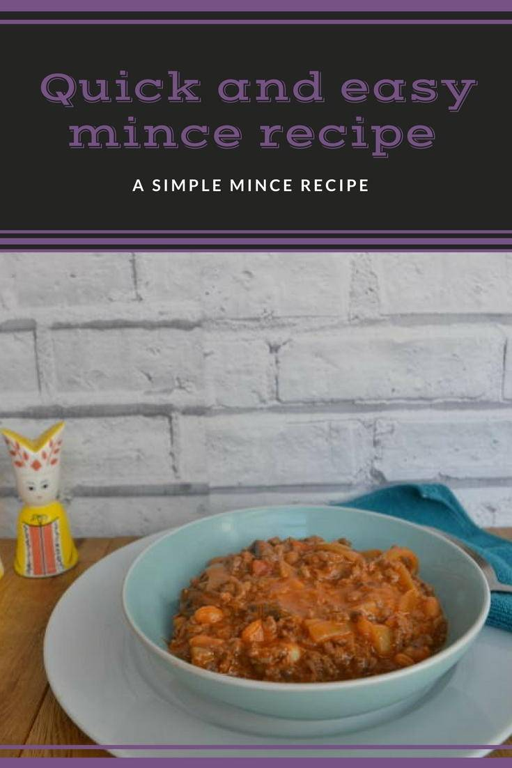A quick and easy mince recipe made using store cupboard ingredients. Perfect for a quick dinner. Click to get the recipe