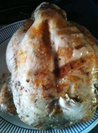 Slow cooker whole roast chicken