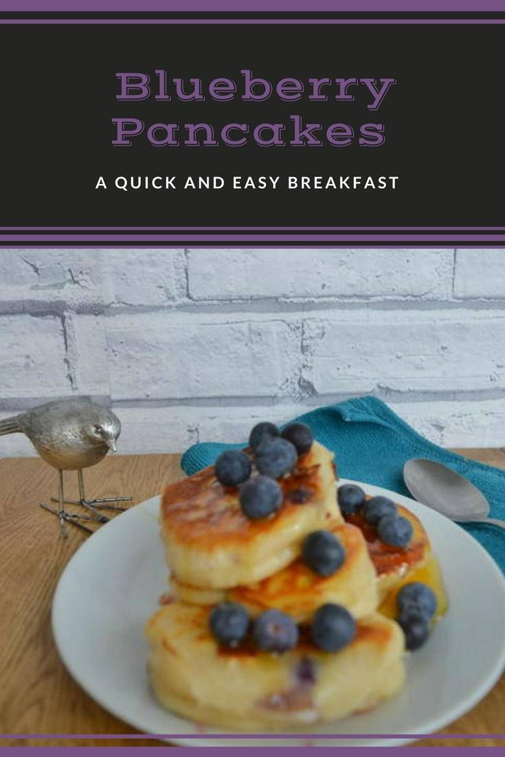 Blueberry pancakes. These fluffy amerian blueberry pancakes are easy to make from scratch and make a delicious breakfast. Click for the recipe