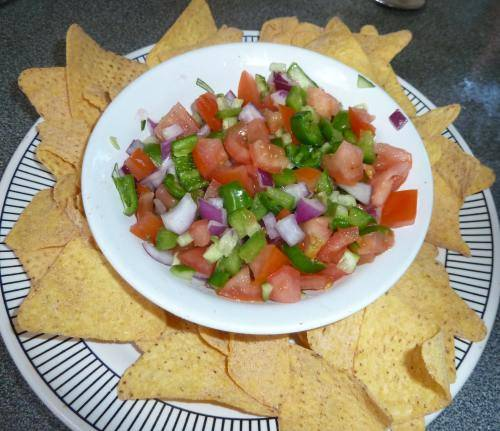 Cucumber tomato and lime salsa