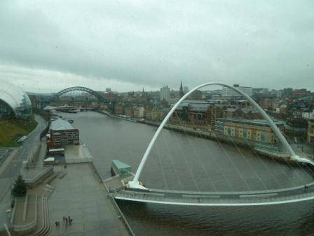 View of newcastle bridges across tyne from the Baltic