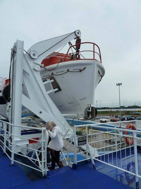 On board DFDS Seaways