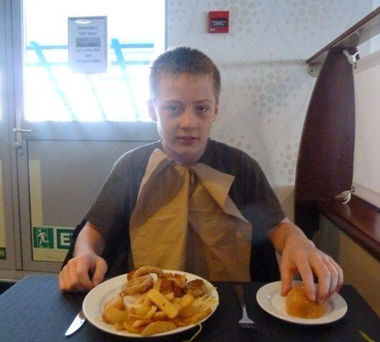DFDS Seaways meal