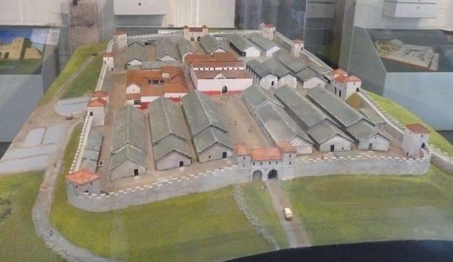 model of housesteads roman fort