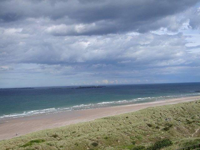 Bambrough castle beach