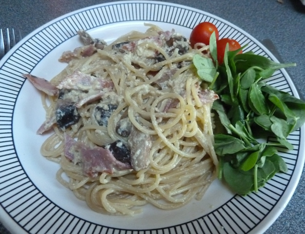 SpaghettiCarbonara Spaghetti Carbonara   A Warming Supper