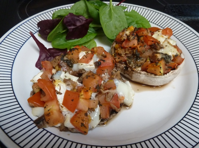 StuffedMushrooms3 Tomato and Cheese Stuffed Mushrooms Recipe