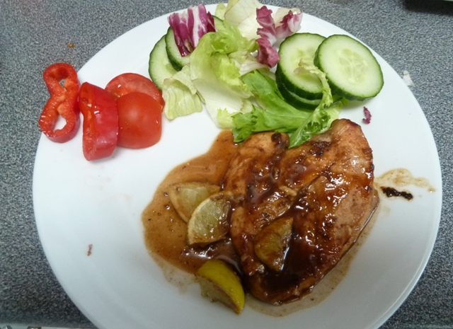 Chicken with lime and brown ale