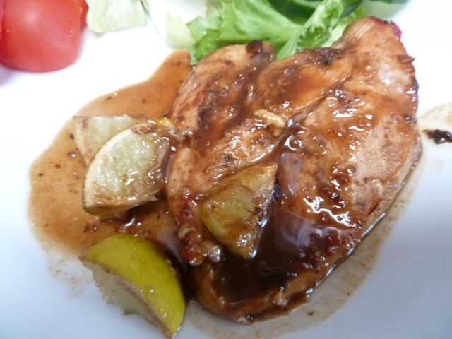 Chicken with brown ale and lime