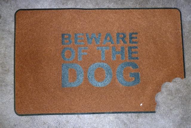 Beware Of The Dog Door Mat: Quirky Gift Idea