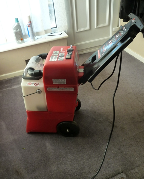 To Use The Machine You Need To Get Some Rug Doctor Carpet Cleaner. The  Upper White Part Of The Machine Lifts Off And You Pour The Carpet Cleaner  Into The ...