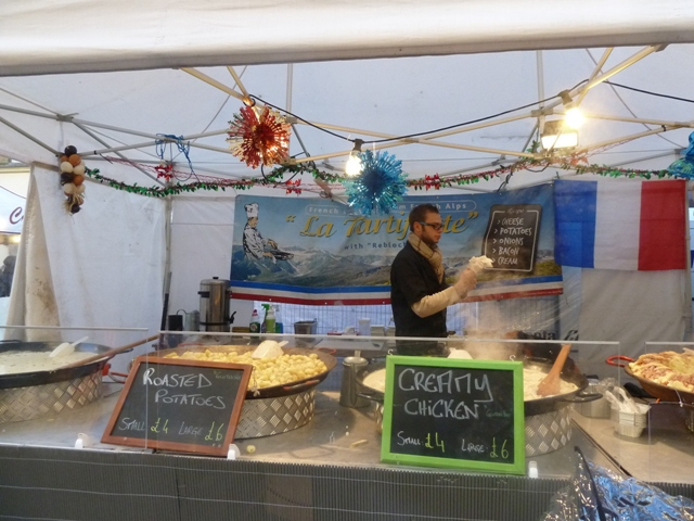 Food at Newcastle Christmas Market