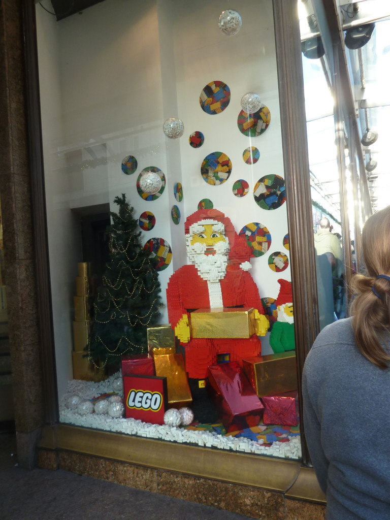 Lego Santa in Fenwicks Windows