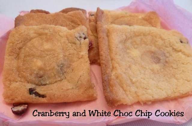 Cranberry and White Choc Chip Cookies