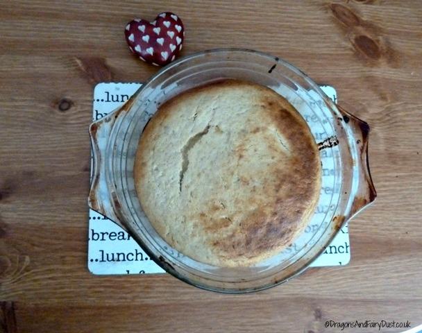 Rhubarb pudding