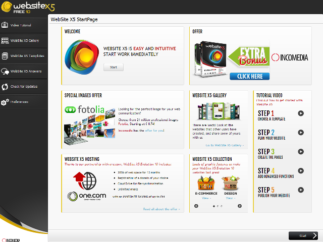 Incomedia WebSite X5 Evolution 10