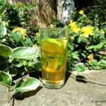 apple cucumber, elderflower and mint cocktail