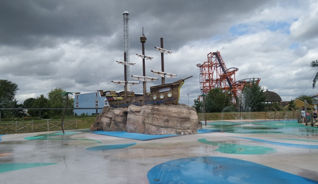 Flamingo land splash zone