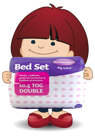 Slumberdown big value bed set