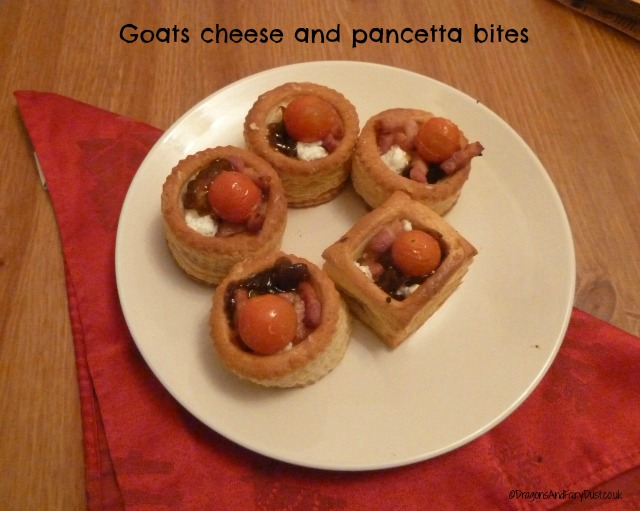goats cheese and pancetta bites