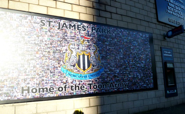 Mural at St James Park