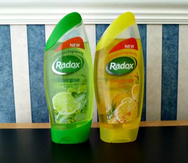 Radox citrus shower range