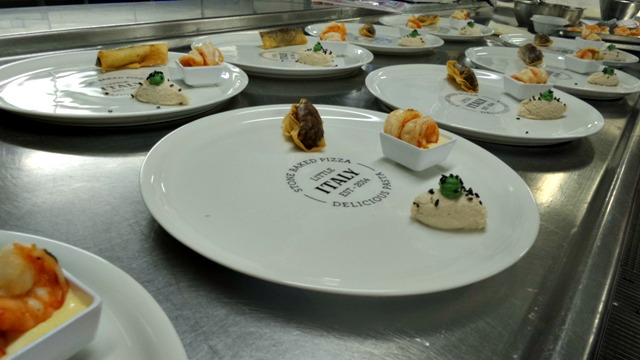 Food being plated up