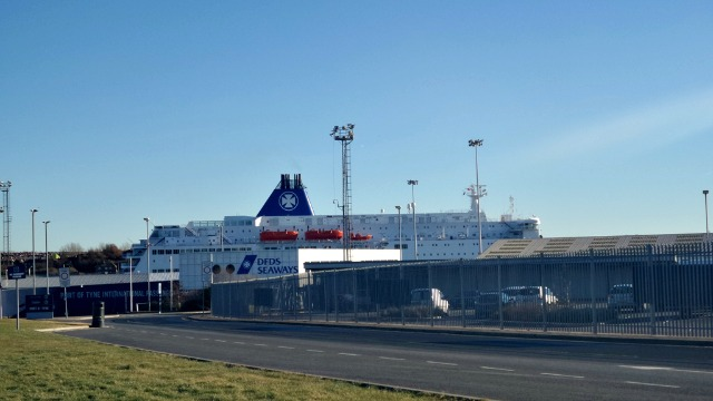DFDS Seaways at port of tyne