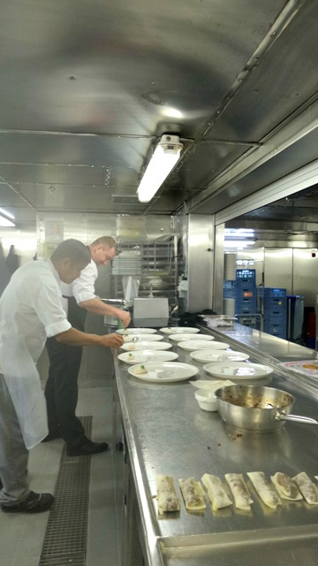 lunch being plated up