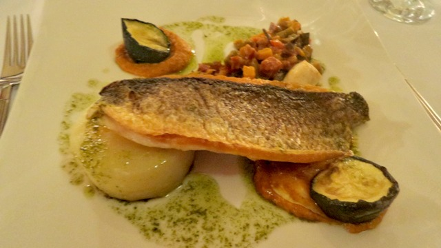 ox pasture hall pan fried sea bass