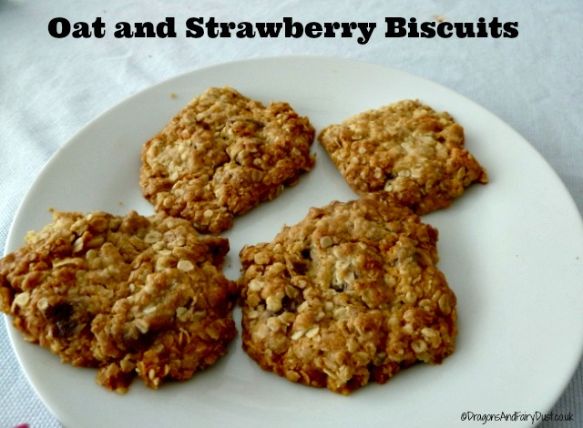 Oat and Strawberry biscuits