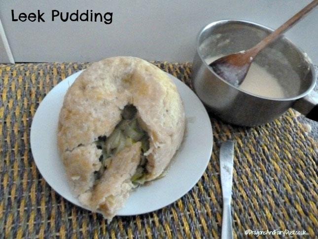 Leek pudding