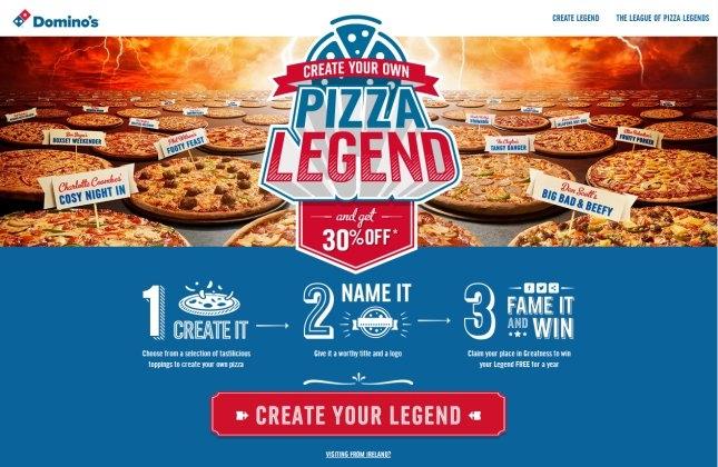 Dominos pizza legends
