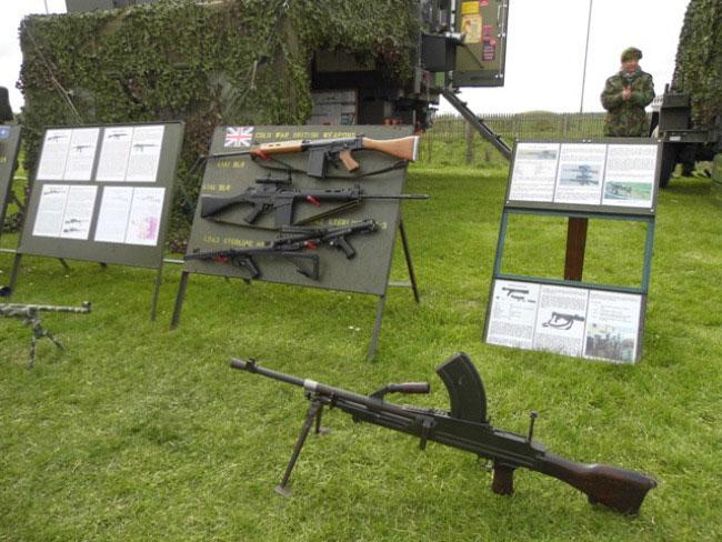 Blyth beach weapons display
