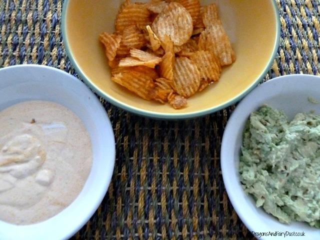 crisps and dip