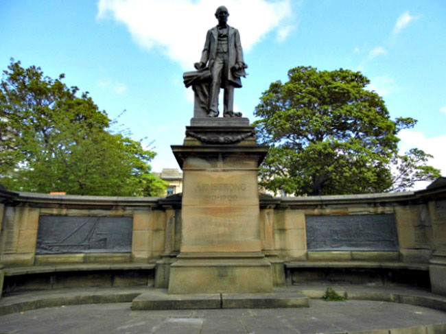 Statue of Armstrong outside Great North Musueum