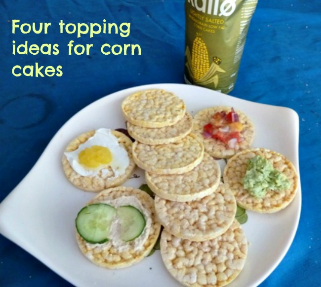 Four topping ideas for corn cakes