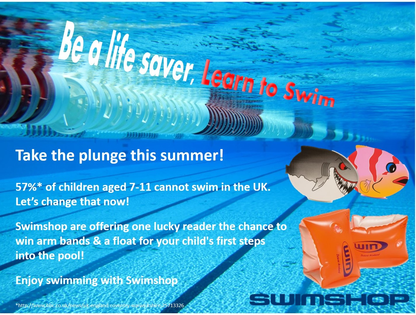 Win learn to swim goodies