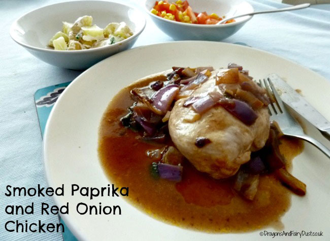 Smoked Paprika and red onion chicken