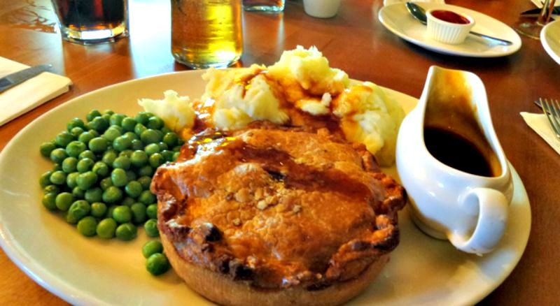 Steak, mushroom and Guiness pie