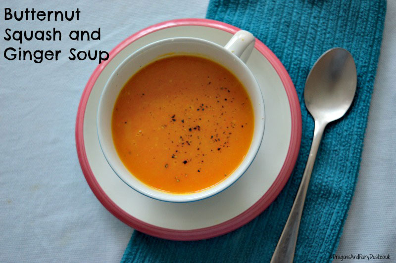 Butternut squash and ginger soup