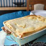 John Torode's My My chicken Pie in dish