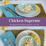 Chicken supreme. A tasty chicken recipe. Chicken is cooked with bacon in a creamy sauce