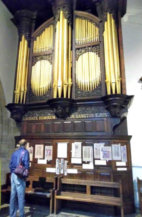 The organ at St Nicholas Cathedral