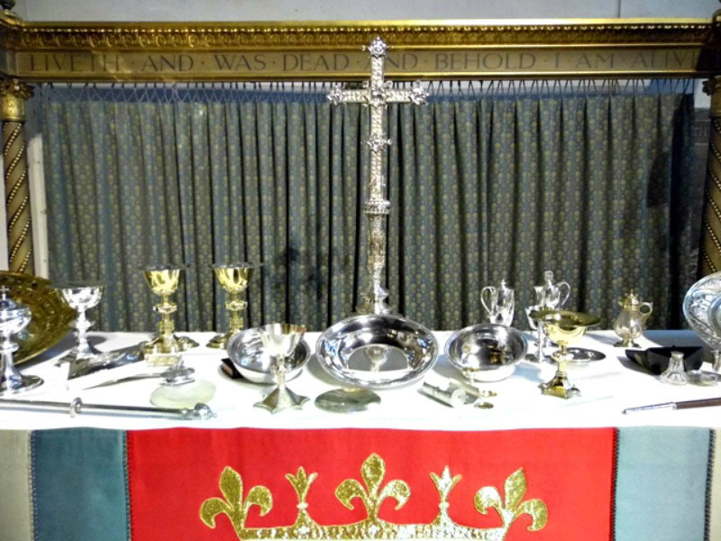 Some of the valuables on display in St Nicholas Cathedral