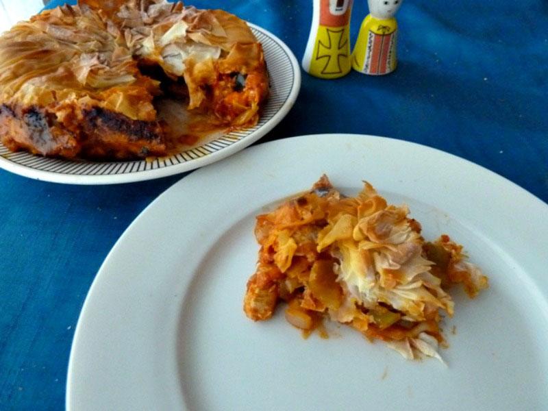 Spiced turkey pie